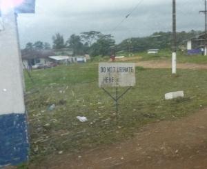 Do Not Urinate Here...